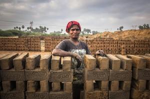 woman brick maker